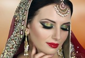 Pink And Gold Smokey Eyes Glam Indian_Pakistani Bridal Makeup Tutorial I Pink and Purple Glitter Smokey Eye Bridal Makeup Tutorial 2016