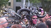Sydney Mardi Gras Part 2 of 2 Scenes before the parade, CUZN, Matt Mitcham, LaFiesta Dance & SBS parade highlights, Latin Kaos, 5 Mar 2016