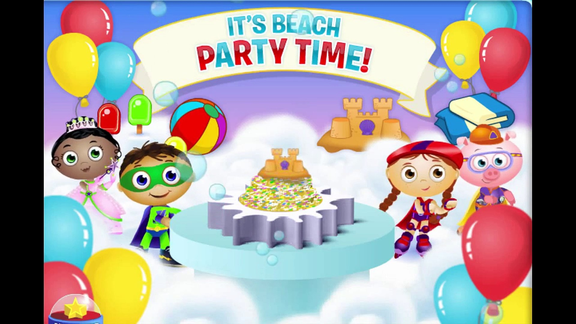 Incredible Super Why Cake Maker Beach Party Cartoon Animation Pbs Kids Game Funny Birthday Cards Online Elaedamsfinfo
