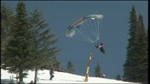 BladeRunning - parachuting down a slalom ski course. What else?