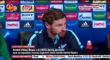 """André Villas Boas """"Não me interessa onde o Benfica vai chegar sou Portista"""" Zenit 1 x 2 Benfica CL"""