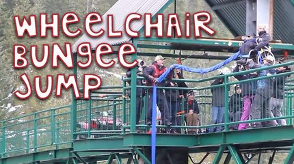 Awesome Wheelchair Bungee Jump!