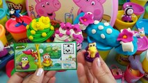 Mickey Mouse Kinder Surprise eggs Play doh Barbie Peppa pig egg surprise unboxin