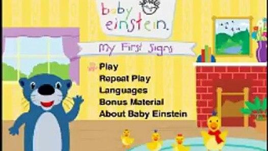 Opening To Baby Einstein My First Signs 2007 Dvd