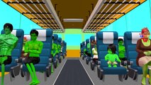 Finger Family Nursery Rhymes For Babies | Hulk Cartoons Wheels On The Bus Go Round and Round