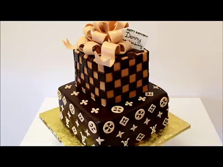 Louis Vuitton Tiered Cake - Custom Cake