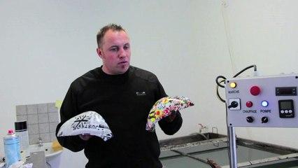 Ludovic Yahiaoui fait une démonstration d'hydrodipping