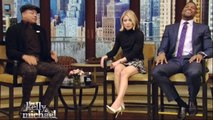 Kelly Ripas feet on Live with Kelly & Michael 2 11 15
