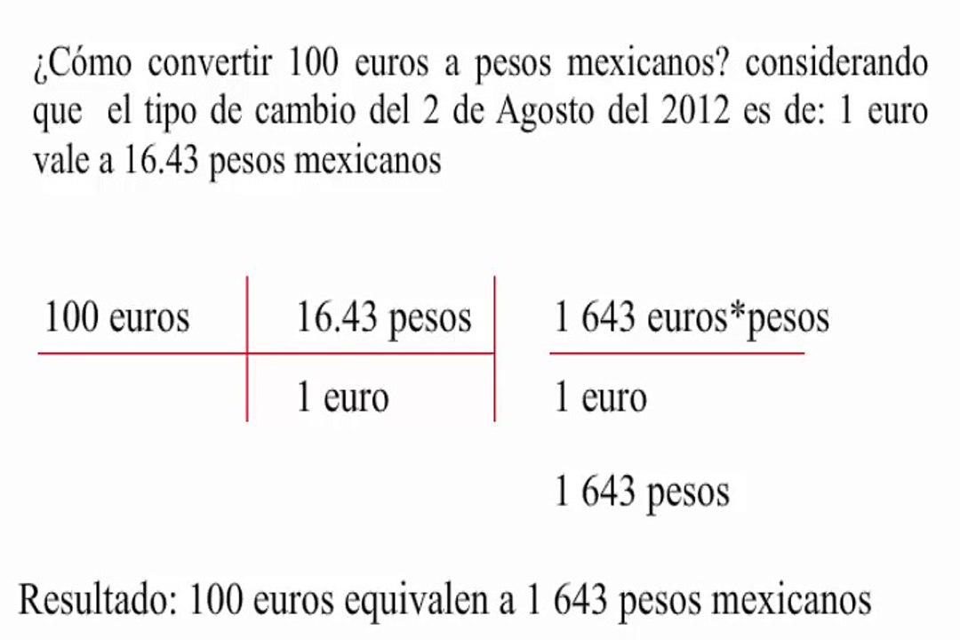 Convertir De Euros A Pesos Mexicanos