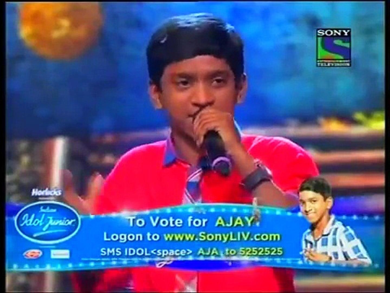 Indian Idol Junior ! Chaiyya Chaiyya by Ajay Brijwasi - 1 Aug