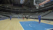 Trick Shots with Harlem Globetrotters - Brodie Smith