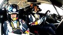 Le pilote Sébastien Ogier évite des vaches de justesse au Rallye du Mexique
