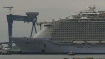 Premier bain de mer pour l'Harmony of the seas, le plus gros paquebot du monde