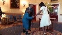 Quand rencontrer Obama et sa femme met une vieille dame dans tous ces états !