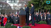 Barack Obama and Justin Trudeau Meet at the White House