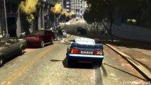 Seventeen jumps Dinoco Lightning McQueen Jumps Off Roof Disney car game GTA