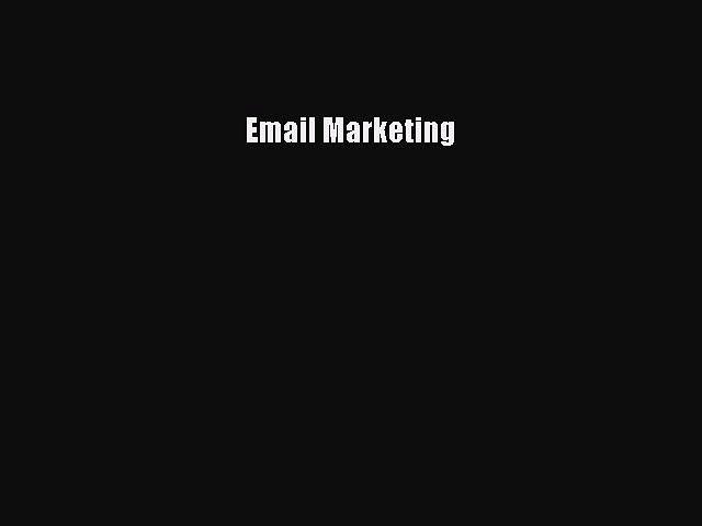 Read Email Marketing Ebook Free