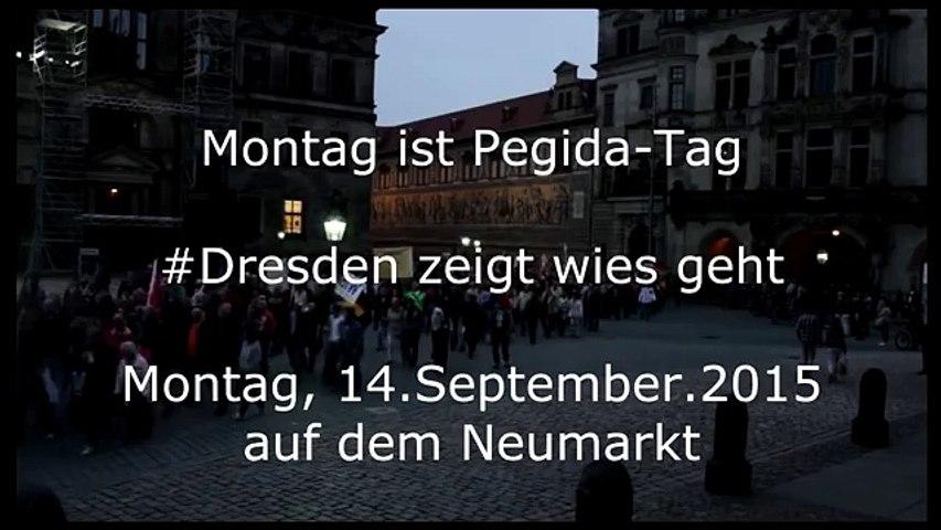 "Germans chant: ""Putin to Berlin, Merkel to Siberia!"" at Dresden Rally in Germany"
