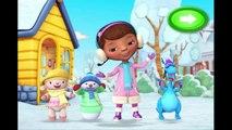 Disney Jr Doc McStuffins Snowman Roll-Up Cartoon Animation Game Play Walkthrough