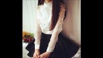 (✿◠‿◠) White blouse casual fashion shirt chiffon shirt women blouses
