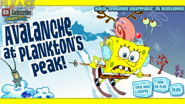 SpongeBob SquarePants Games Avalanche At Planktons Peak Mountain