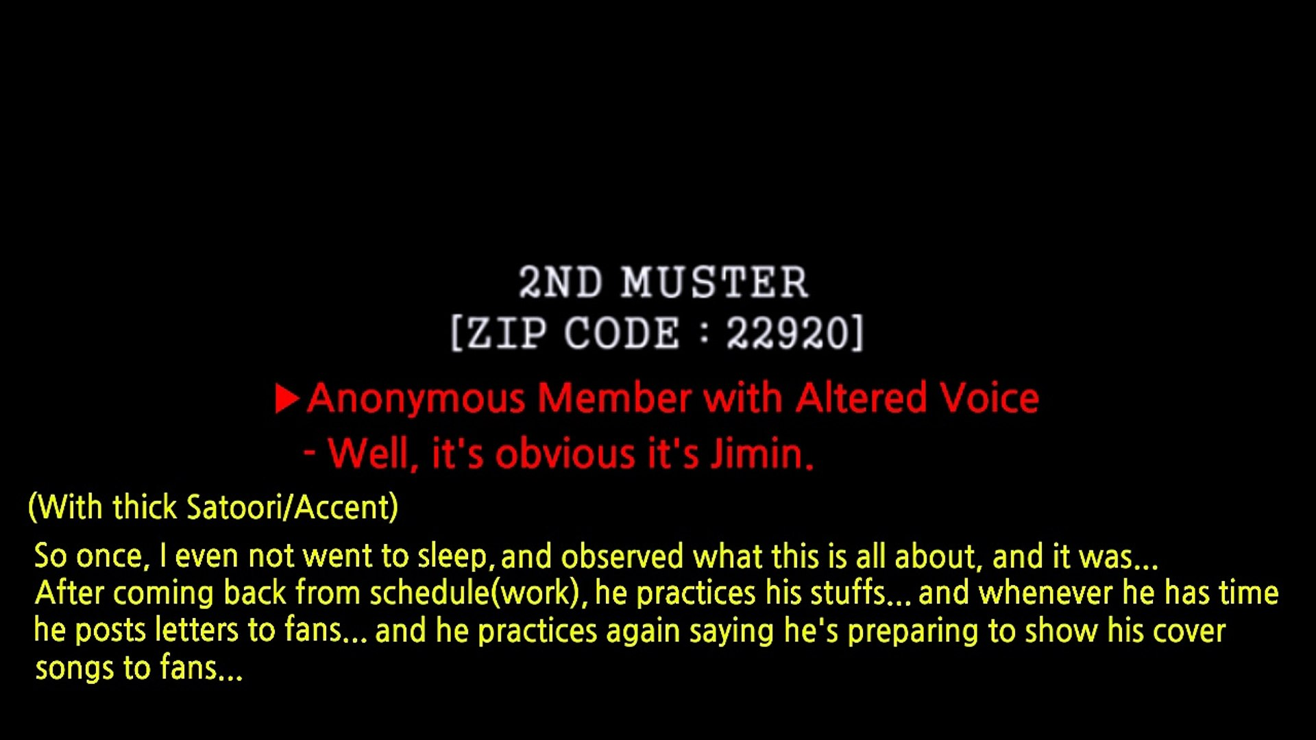 [ENG SUB] 160124 BTS 2ND MUSTER ANONYMOUS COMPLAINT LETTER JUNGKOOK/  Jungkooks Sleepwear