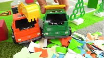 Dessin animé pour enfants. Développement des enfants. La course des camions  Dessins Animés Pour Enfants