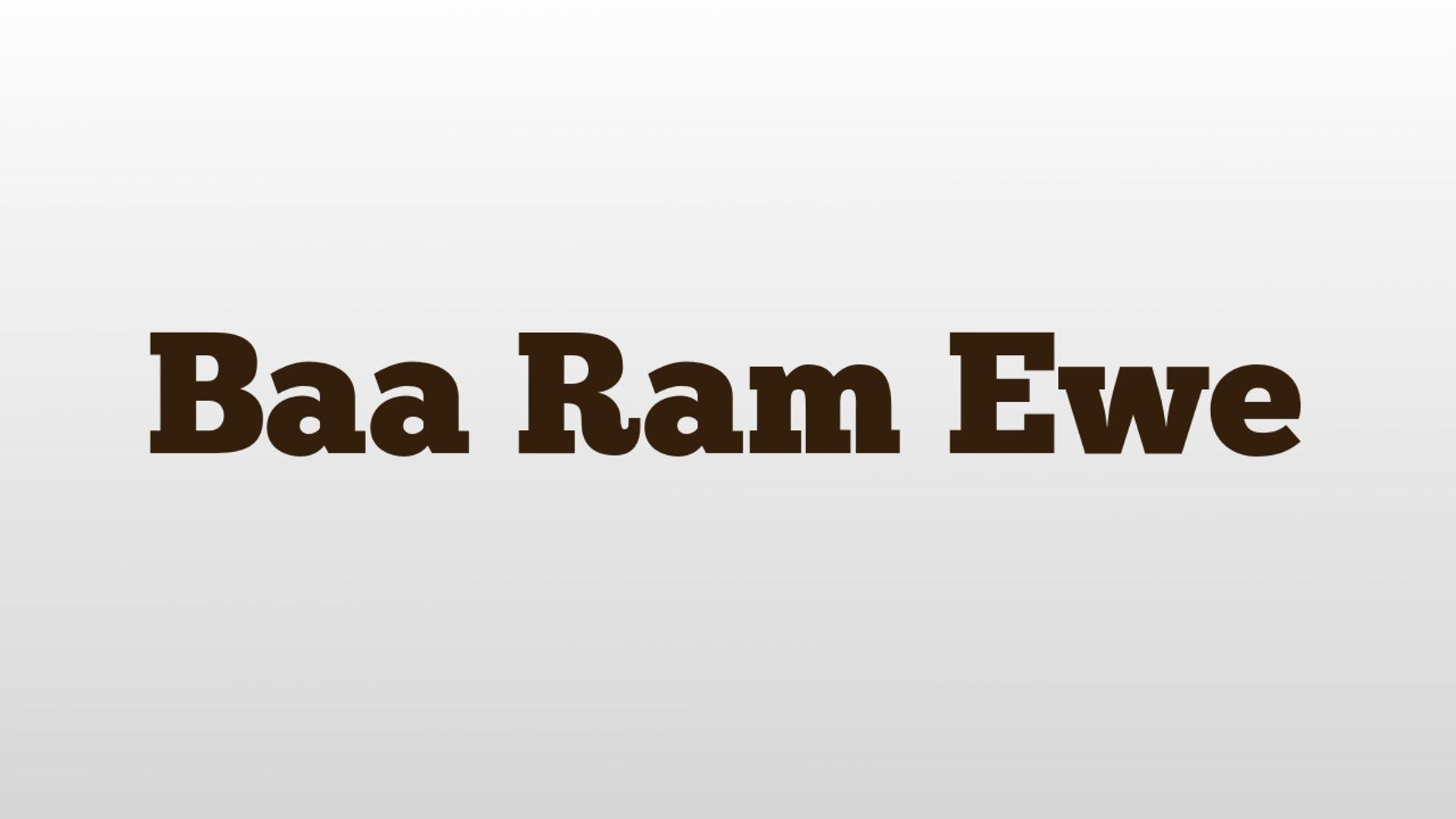 Baa Ram Ewe meaning and pronunciation - video dailymotion