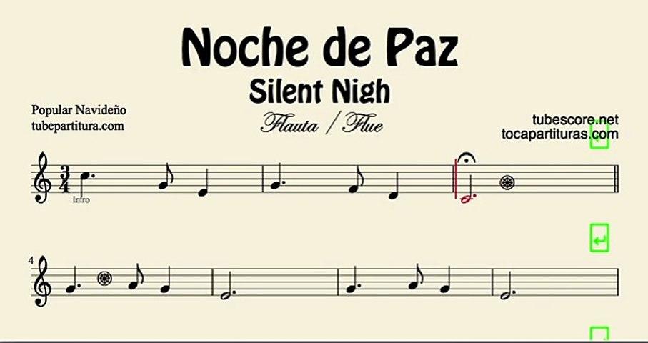 Noche De Paz Partitura De Flauta Dailymotion Video