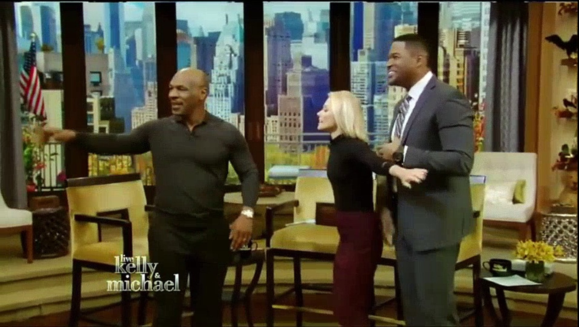 Mike Tyson Interview   Mike Tyson live with Kelly & Michael Jamie Fox to play Mike Tyson life st