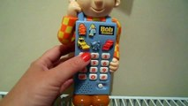 BOB THE BUILDER TALKING ENGLISH GAMES CELL MOBILE TELEPHONE TOY FROM UK TELEVISION SERIES