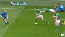 Irlande - Italie : L'action géniale de 80m des Irlandais pour l'essai de Heaslip !