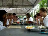 Pali and Thai chanting before meals at Wat Rampoeng
