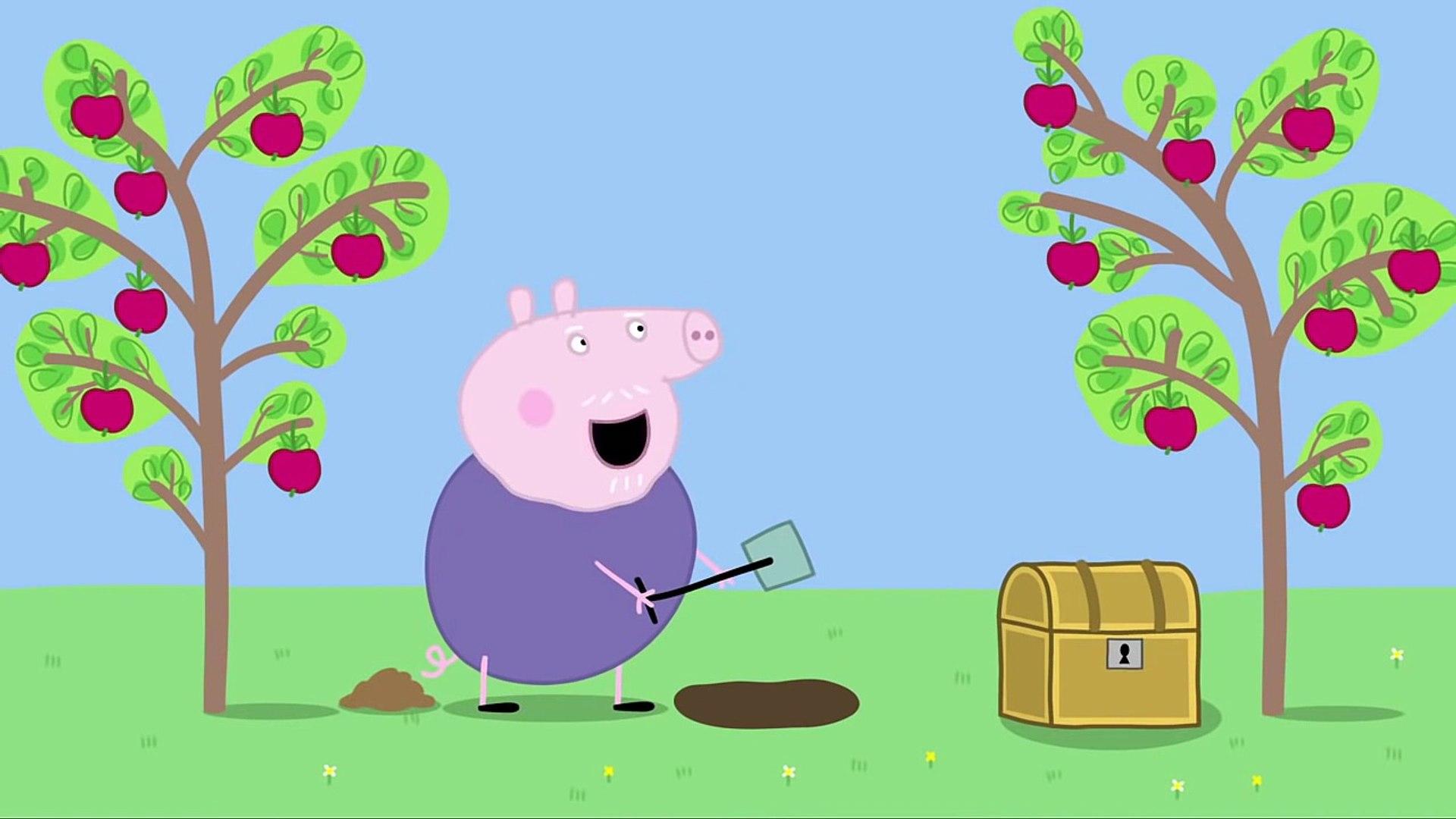 Свинка Пеппа серия 24 В поисках клада на русском без титров на весь экран сезон 1 от канала 1акм