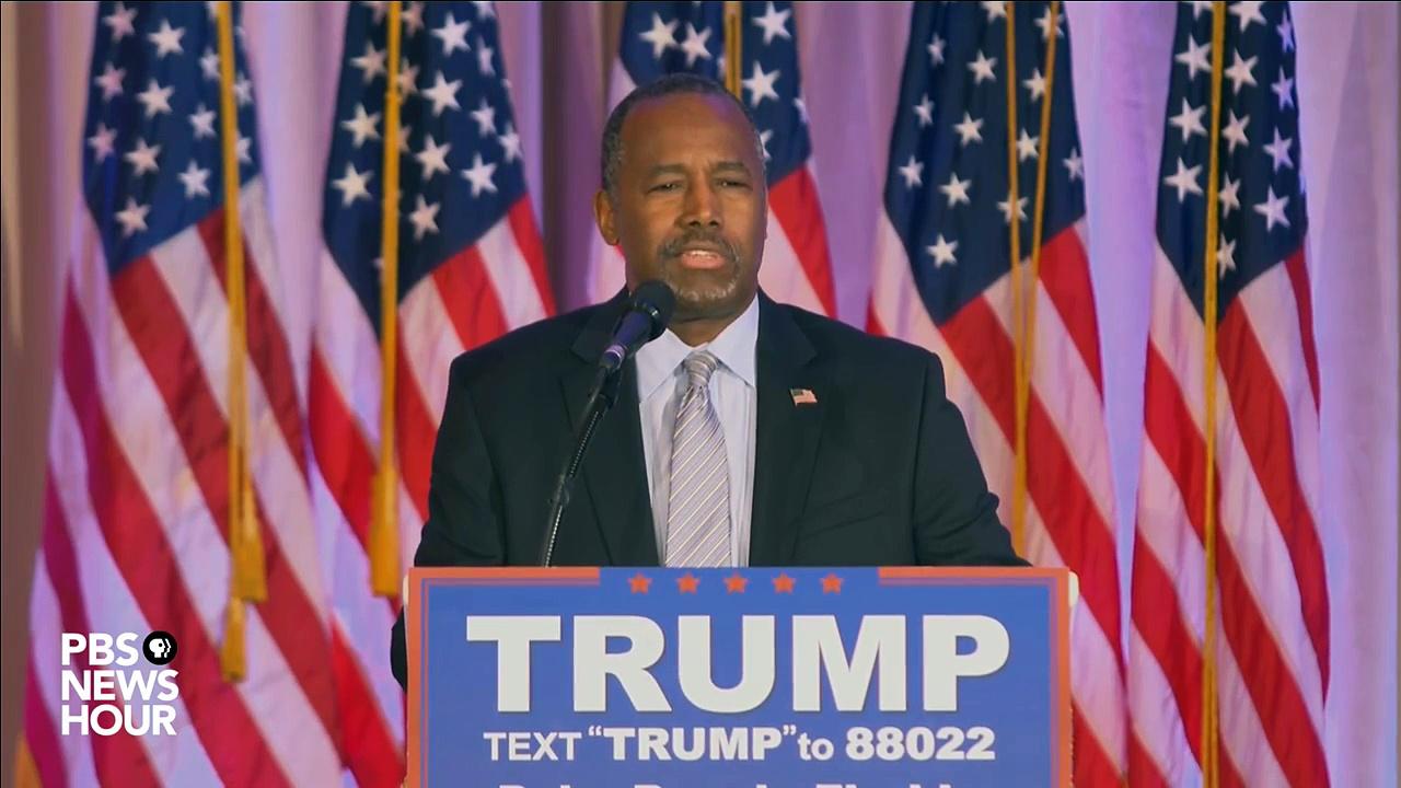 Watch Ben Carson endorse Donald Trump full news conference