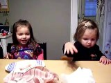 Lilly and Helena talk about Lilly being a chicken for Halloween
