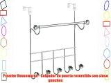 Premier Housewares - Colgador de puerta reversible con cinco ganchos