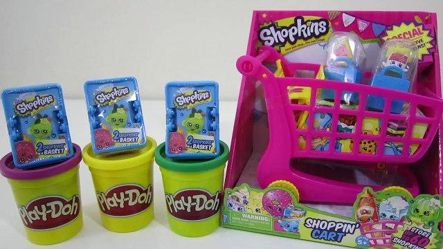 Shopkins STORE Shopping Cart Lagring Playset 3 Blind Kurver Overraskelser med SJELDNE Shopkins!
