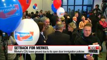 Merkel's CDU suffers setback in German elections