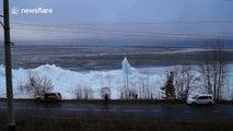 Giant ice hummocks in Lake Baikal, Russia