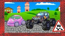 ✔ Monster Truck and Tow Truck with Car Service / Sport Car Race / Cartoons Compilation f