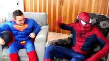 Spiderman vs Superman vs Venom in Real Life! Spiderman & Superman Battle Venom Superhero M