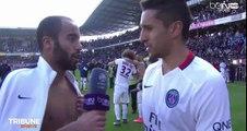 Quand Lucas joue le journaliste avec Marquinhos, c'est drôle !