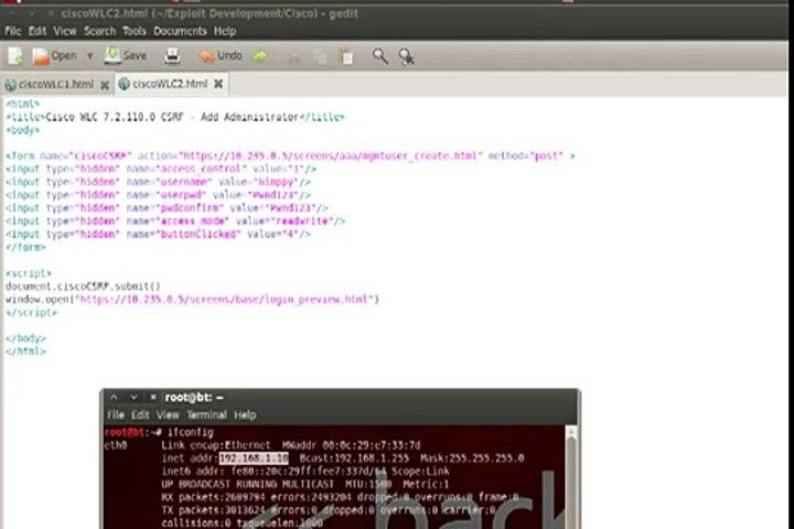 Cisco WLC CSRF, DoS, and Persistent XSS - CVE-2012-5992, CVE-2012-6007,  CVE-2012-5991