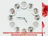 Deknudt Frames S66SF1-.0X.0 Cadre Photo avec Horloge 12 Ouvertures Rond 426 x 426 x 32 cm