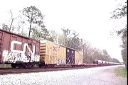 CSX X592 freight train with CN leader
