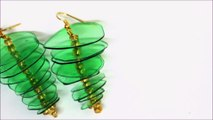 Recycled Jewelry Ideas DIY Plastic Bottle Earrings by Recycled Bottles Crafts