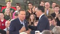 Mitt Romney campaigns with John Kasich