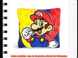 Super Mario Bros - cojín de Super Mario - decorativo y mullido con la licencia oficial de Nintendo