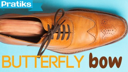 How to tie your shoes and make a butterfly bow